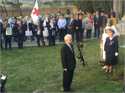 The ANZAC Centenary Portianos 2015 April 17 Wreath Laying Ceremony