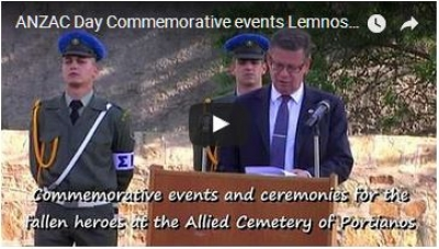 ANZAC Day Commemorative events Lemnos 20-21 April 2017